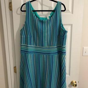 Sleeveless A line dress